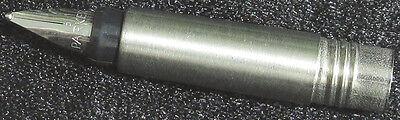 Spare nib section Parker vector fountain pen original chrome plated medium M new
