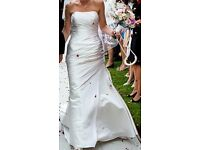 Pronovia Tigris ivory satin wedding dress size 10
