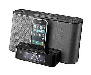 SONY CLOCK RADIO WITH IPOD/IPHONE SPEAKER DOCK