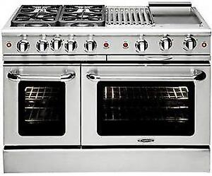 https://aniks.ca/ Capital MCR488N 48 Gas Convection Range with 4 Seal Burners 19K BTU + 12 BBQ & Griddle