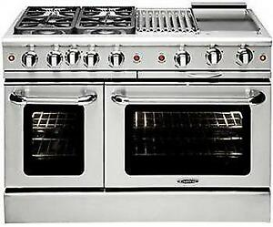 "https://aniks.ca/ Capital MCR488N 48"" Gas Convection Range with 4 Seal Burners 19K BTU + 12"" BBQ & Griddle"