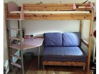 Stompa Children High Sleeper with sofa and desk