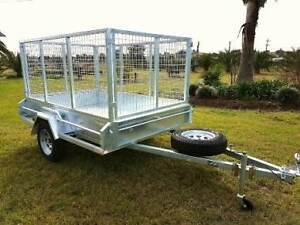 8x5 BOX TRAILER GALVANISED 1000MM CAGE (SPRING SALE) Kemps Creek Penrith Area Preview