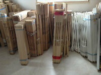 New wood interior spindles, half newels and full newels