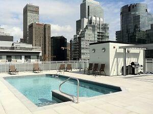 6th Floor / Near GUY-CONCORDIA metro / 3 ½ / Balcony / Pool