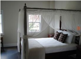 Four poster super king size bed-includes matching bedside cabinets