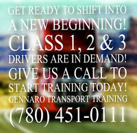 Class 1, 2 and 3 driver training