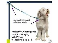 *CAN POST* Brand New BLUE PetLoc Security Anti Theft Dog Lead & Collar Size M/L