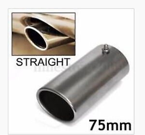 75mm Chrome Exhaust Muffler Pipe Rear Tail Tip - BRAND NEW