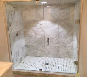 Shower glass panel and door for home