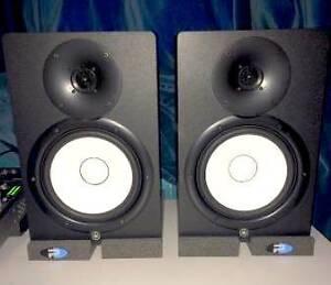 Yamaha HS8 Studio Monitors W/ Primacoustic Isolation Pads