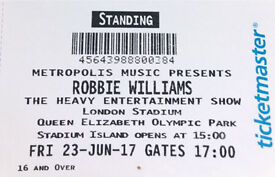 2x Robbie williams tickets - London 23/6