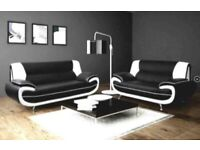 Brand New Leather Palermo High Quality 3+2 Sofa Set Available With Cash On Delivery