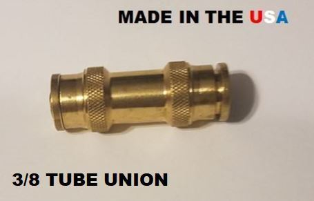 BRASS FITTINGS QUICK CONNECT DOT  3/8 TUBE UNION FOR AIR BRAKE FITTINGS  D1162