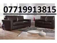 LEATHER SOFA SET 3+2 AS IN PIC BROWN New