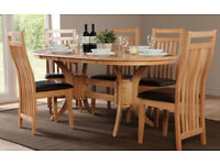 English Oak wood Brown dining table