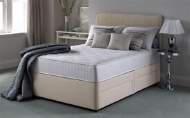 Silent Night Double Divan Bed with Headboard