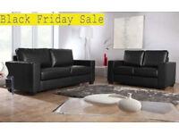 SOFA brand new black or brown 3+2 Italian leather Sofa set 56DBADE