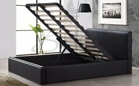 "Fantastic Double Ottoman Leather Bed with ""Semi Ortho Mattress"" ORDER NOW"