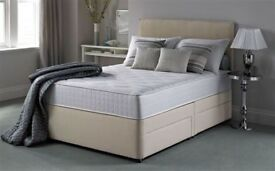Silent Night Double Divan Bed with Head Board