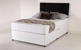 DIVAN BED BASE WITH CHOICE MATTRESSES - SINGLE /DOUBLE/ KING FREE DELIVERY