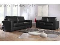 SOFA brand new black or brown 3+2 Italian leather Sofa set 36266BD