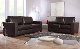 SOFA brand new black or brown 3+2 Italian leather Sofa set