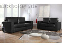SOFA brand new black or brown 3+2 Italian leather Sofa set 03777DUBC