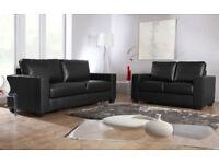 SOFA brand new black or brown 3+2 Italian leather Sofa set 94BAE