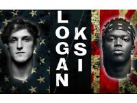 KSI v LOGAN PAUL TICKETS MANCHESTER ARENA 25 AUGUST 2018