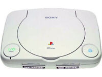playstation one(white)with ps1 controller/1 power lead/1 scart lead/1 memory card
