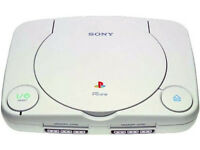 playstation one(white)with 1 ps1 controller/1 power supply ps1 scart lead/and 1 tv