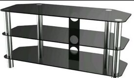 TV Stand black glass shelves for sale