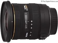 Sigma 10-20mm f/3.5 EX DC HSM Lens - Nikon fit for sale