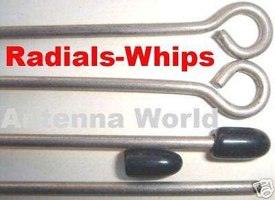 Radial Ground Plane - Antenna Radials Whips Loop tip ground plane ham 2-way