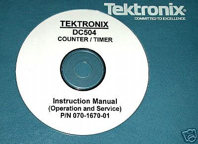 Tektronix Dc504 Dc-504 Dc 504 Service Manual
