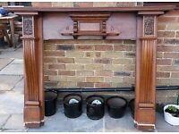 Original Oak fireplaces