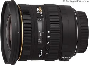 NIKON mount SIGMA 10-20mm f3.5 ultrawide lens in perfect cond