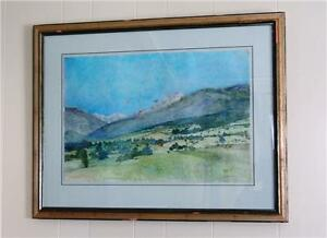 Vintage Russian Watercolor Painting signed