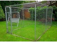 Dog run play pen cage, like kennel for your pets for the garden, outdoor. Metal, with gate REDUCED