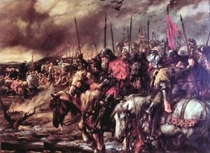Morning of Agincourt by Sir John Gilbert