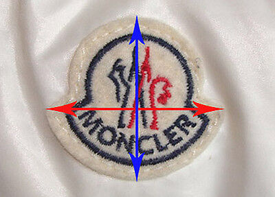 moncler jacket badge on front