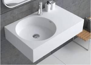 Designer solid surface wall mounted sinks - IN STOCK - Full Range Burleigh Heads Gold Coast South Preview