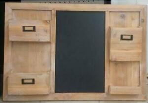 "Kawartha Home Hardware Hanging Wood Chalkboard with Holders - 20"" H x 29"" W"