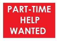 Part Time Cashier Wanted.