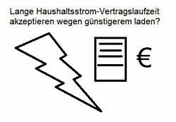 Logo Lange Haushaltsstrom-Vertragslaufzeit akzeptieren wegen günstigerem laden und ggf. Schadenersatz?