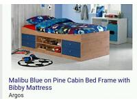 Cabin bed 2 blue 1 white