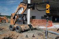 Screw pile drive rental ! Drill large diameter holes with ease !