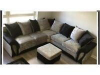 Corner sofa With free FOOTSTOOL