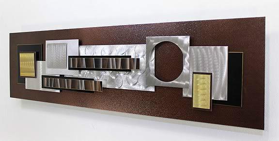 Statements2000 Modern Metal Silver Wall Art Clock Decor by Jon Allen Time Weaver